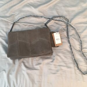 Olive green/ grey crossbody purse. New with tags!